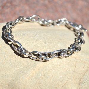 Mexican Sterling Silver Horse Shoe Rolo Bracelet